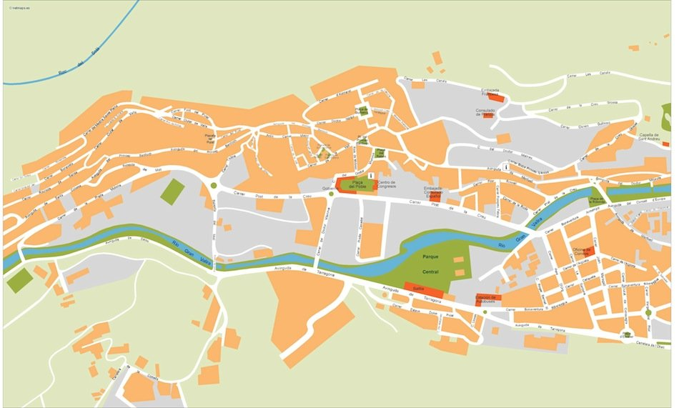 andorra vector map