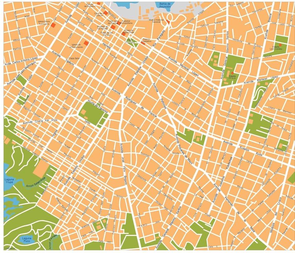 asuncion vector map