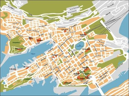 bergen vector map