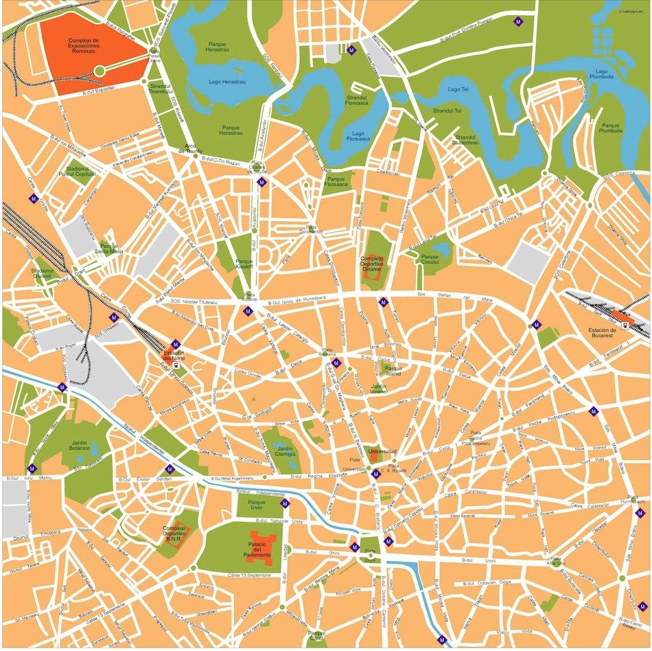 bucharest vector map