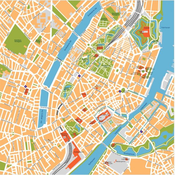 copenhagen vector map