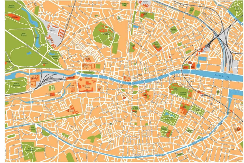 dublin vector map
