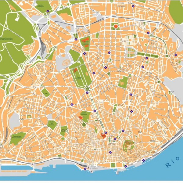 lisboa vector map