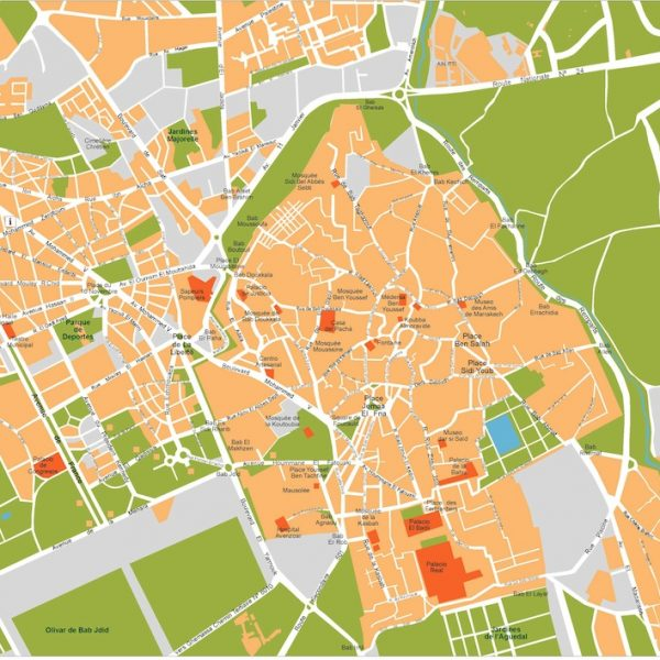 marrakech vector map