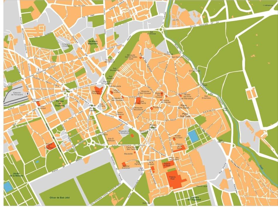 marrakech vector map