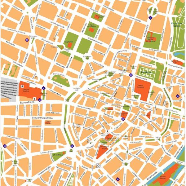 munchen vector map