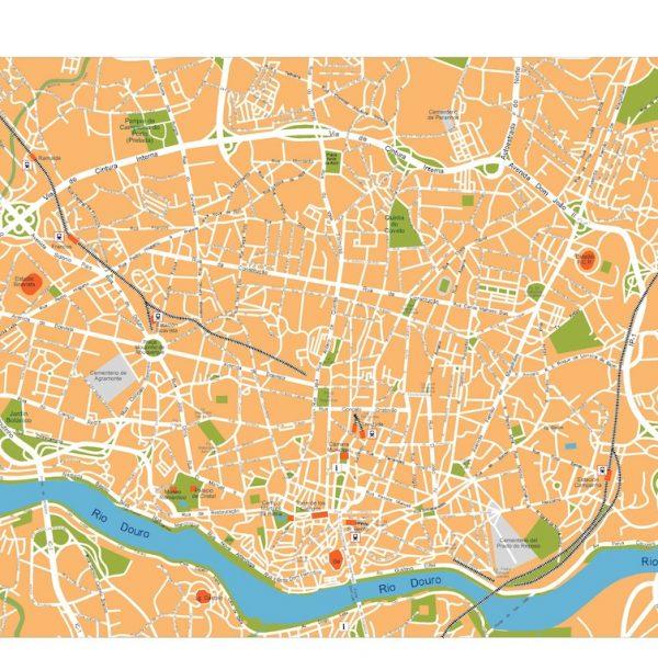 porto vector map