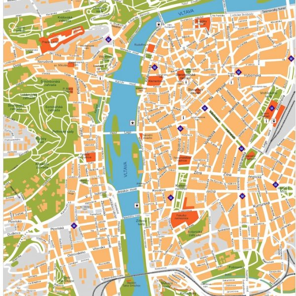 prague vector map