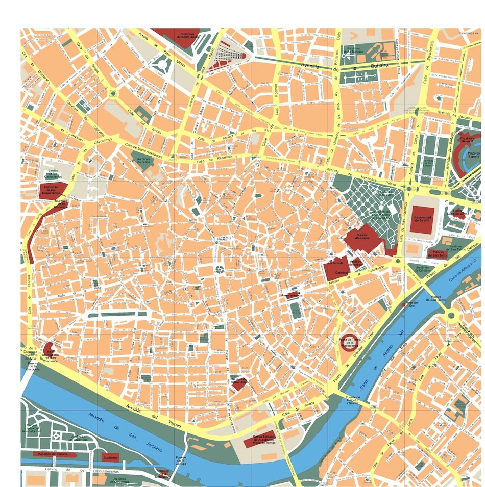seville vector map