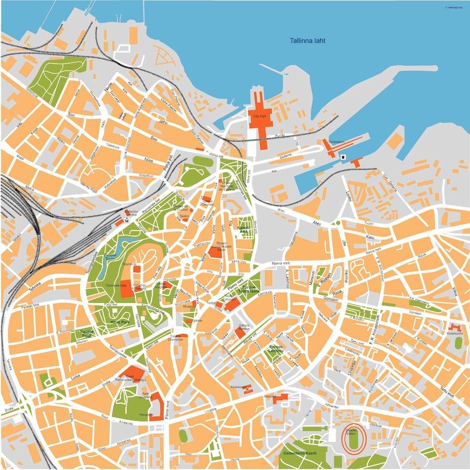 tallinn vector map