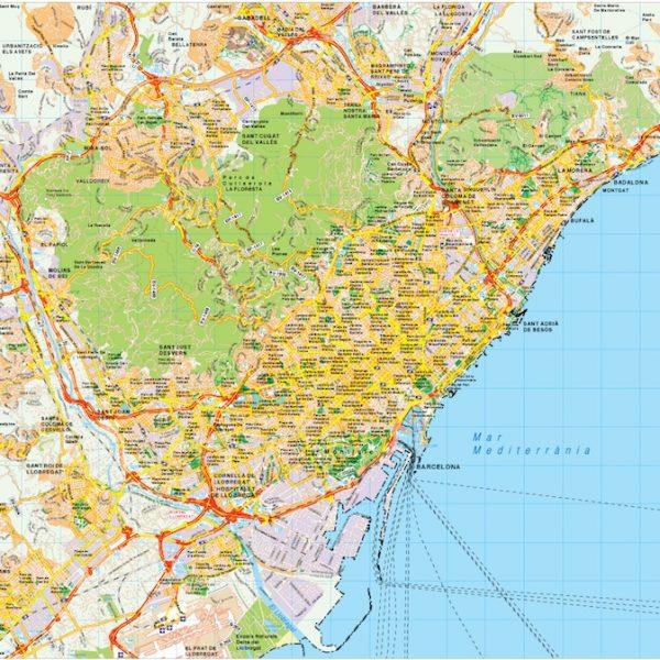 Barcelona map vector