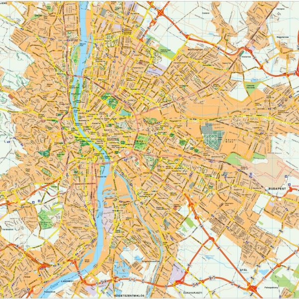 Budapest map vector