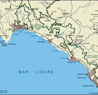 Cinque Terre eps map