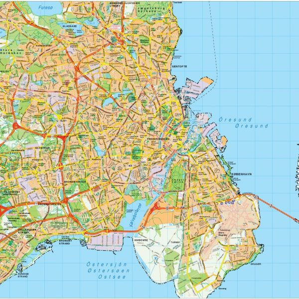 Copenhaguen map vector