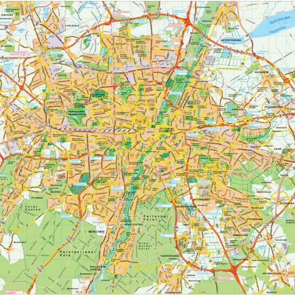 Munchen map vector