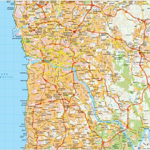 Porto map vector