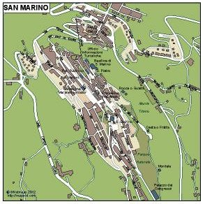 San Marino eps map