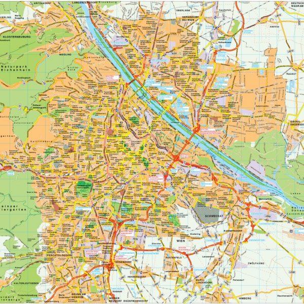 Wien map vector