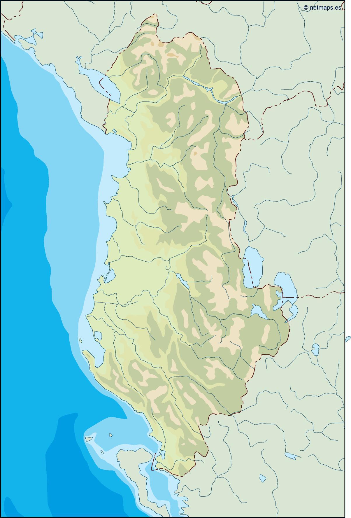 albania illustrator map