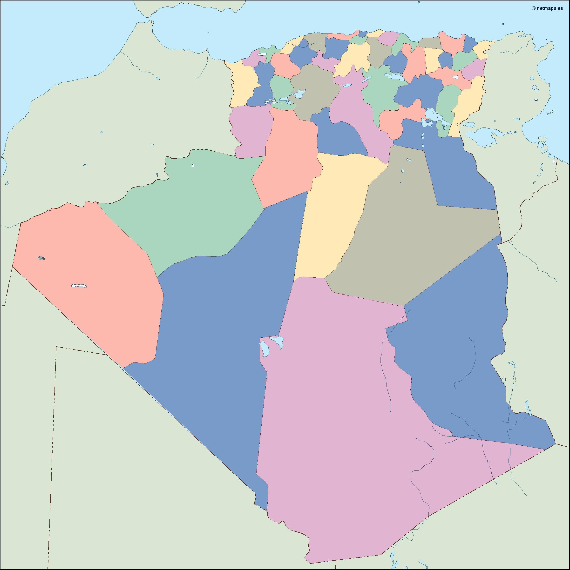 algeria blind map