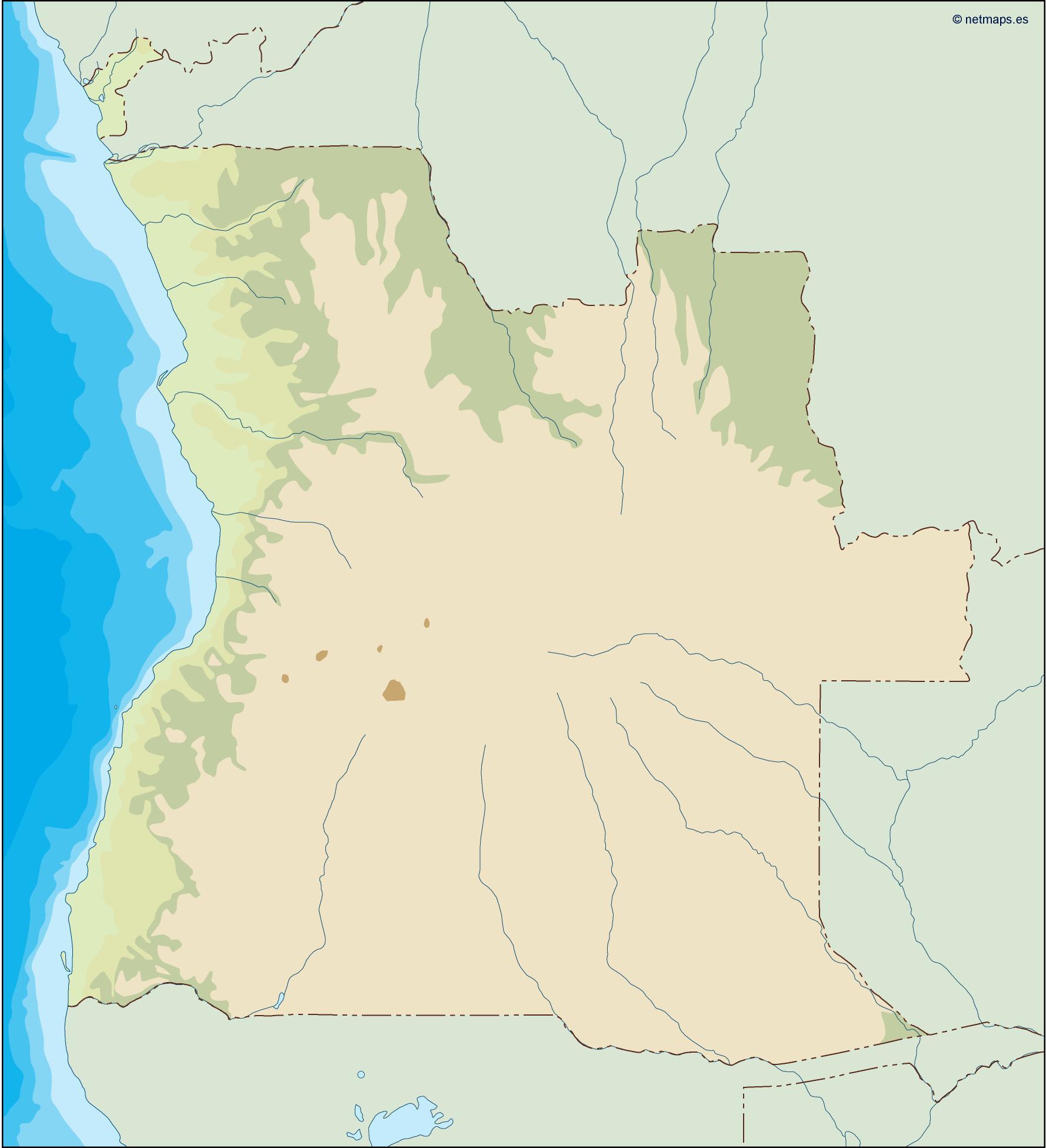 angola illustrator map