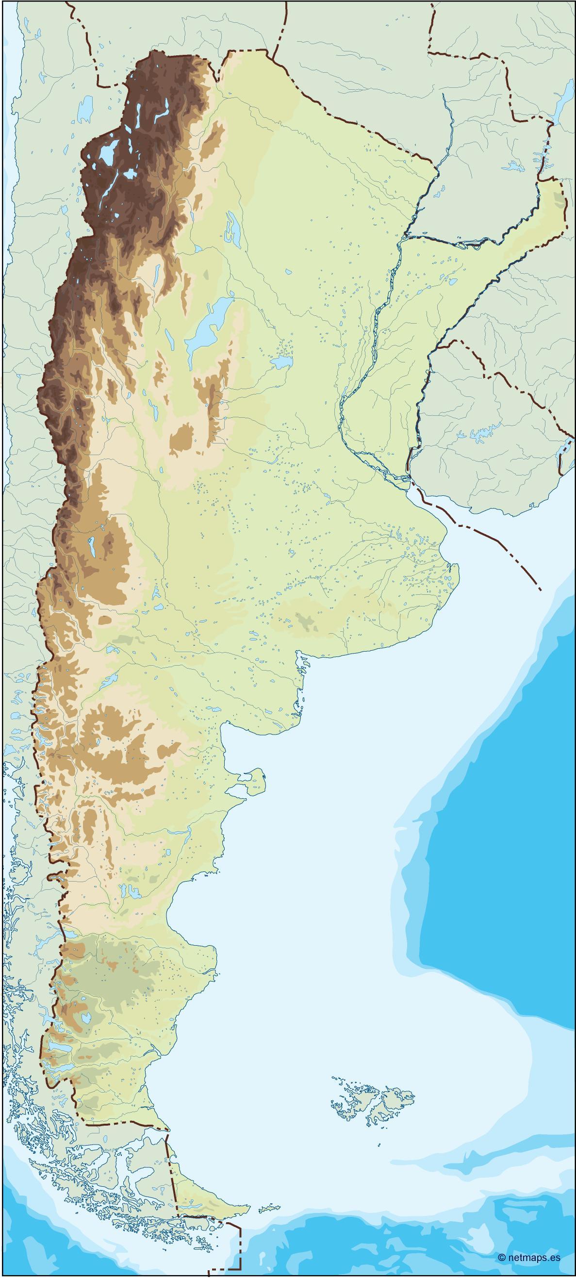 argentina illustrator map