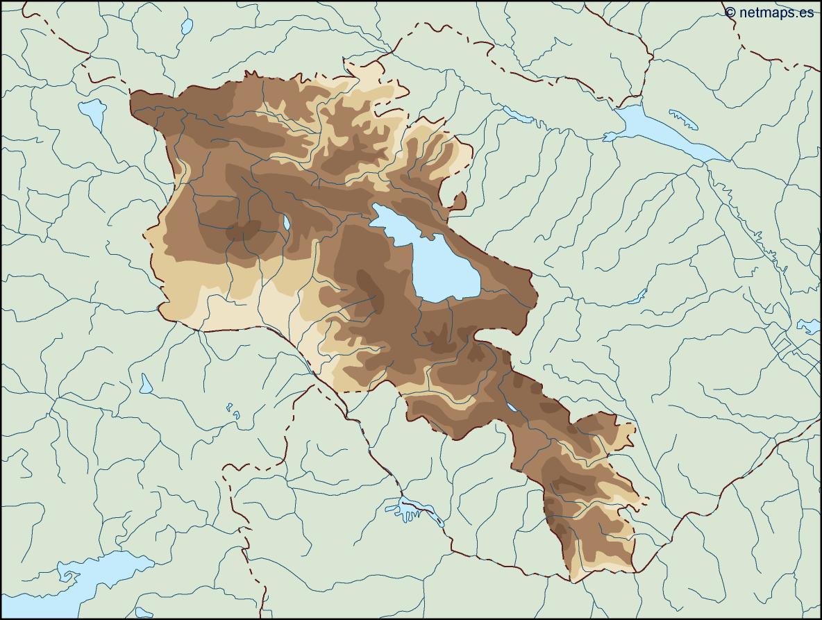 armenia illustrator map