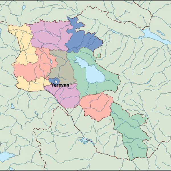 armenia vector map