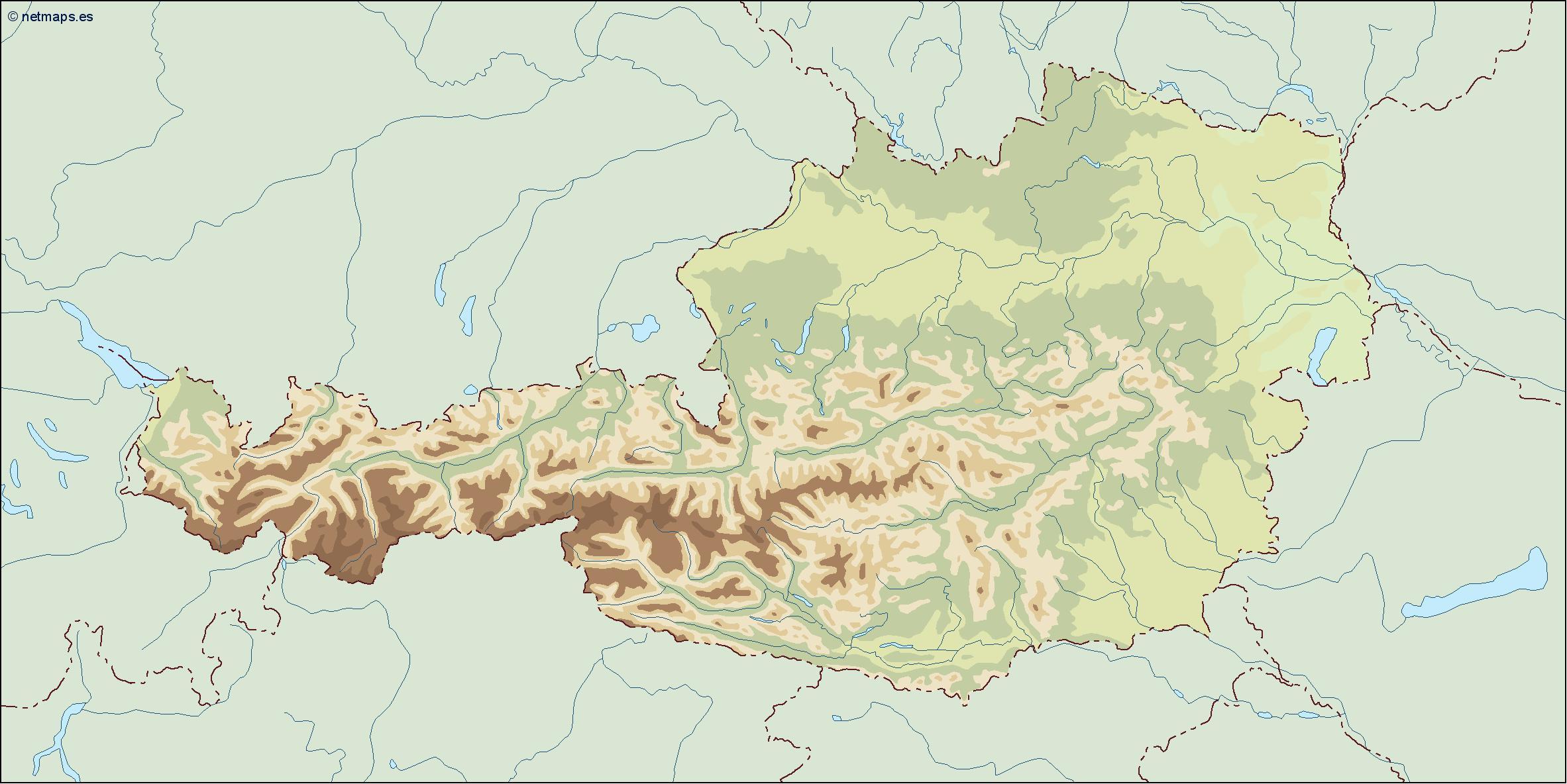 austria illustrator map