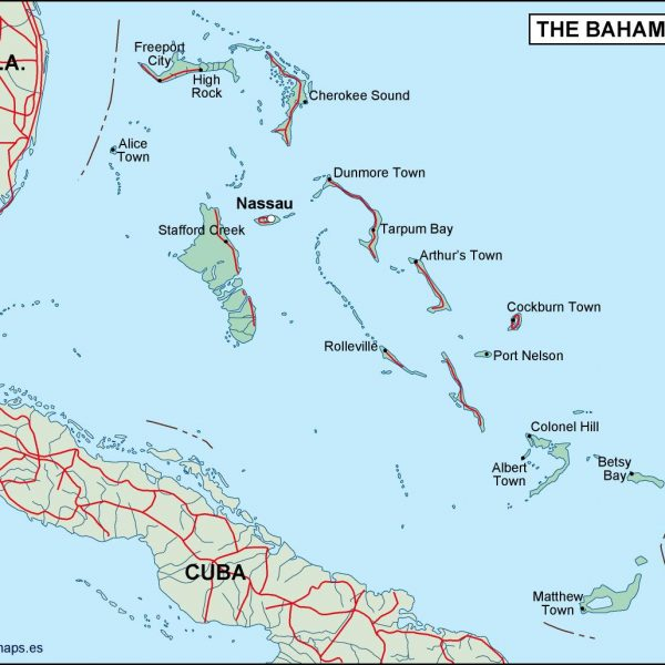 bahamas political map