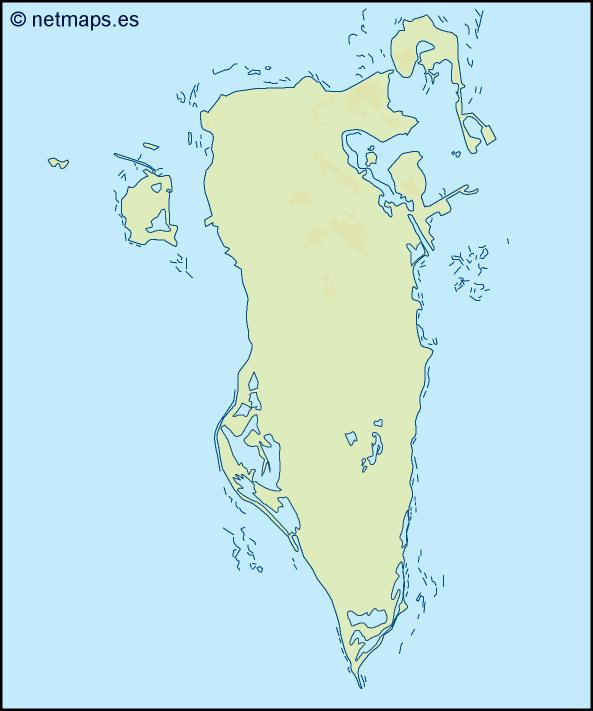 bahrain illustrator map