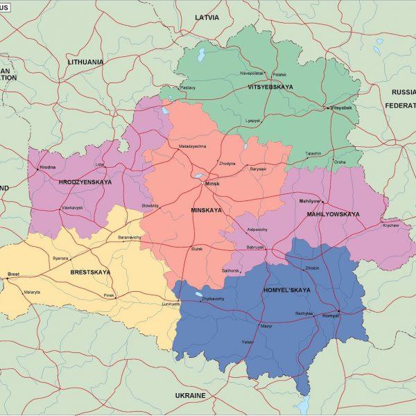 belarus political map