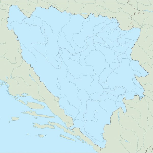 bosnia herzegovina blind map