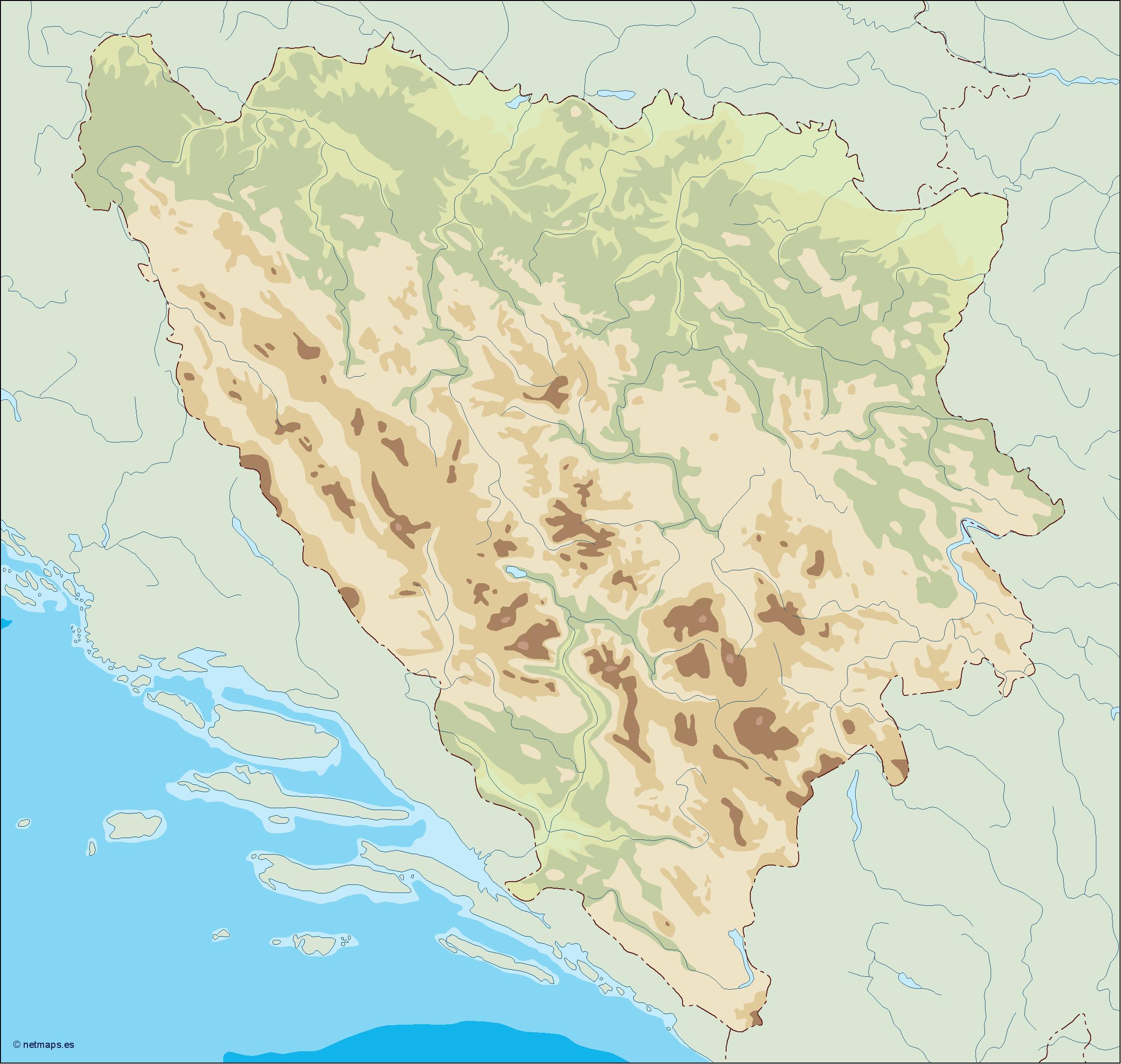 bosnia herzegovina illustrator map