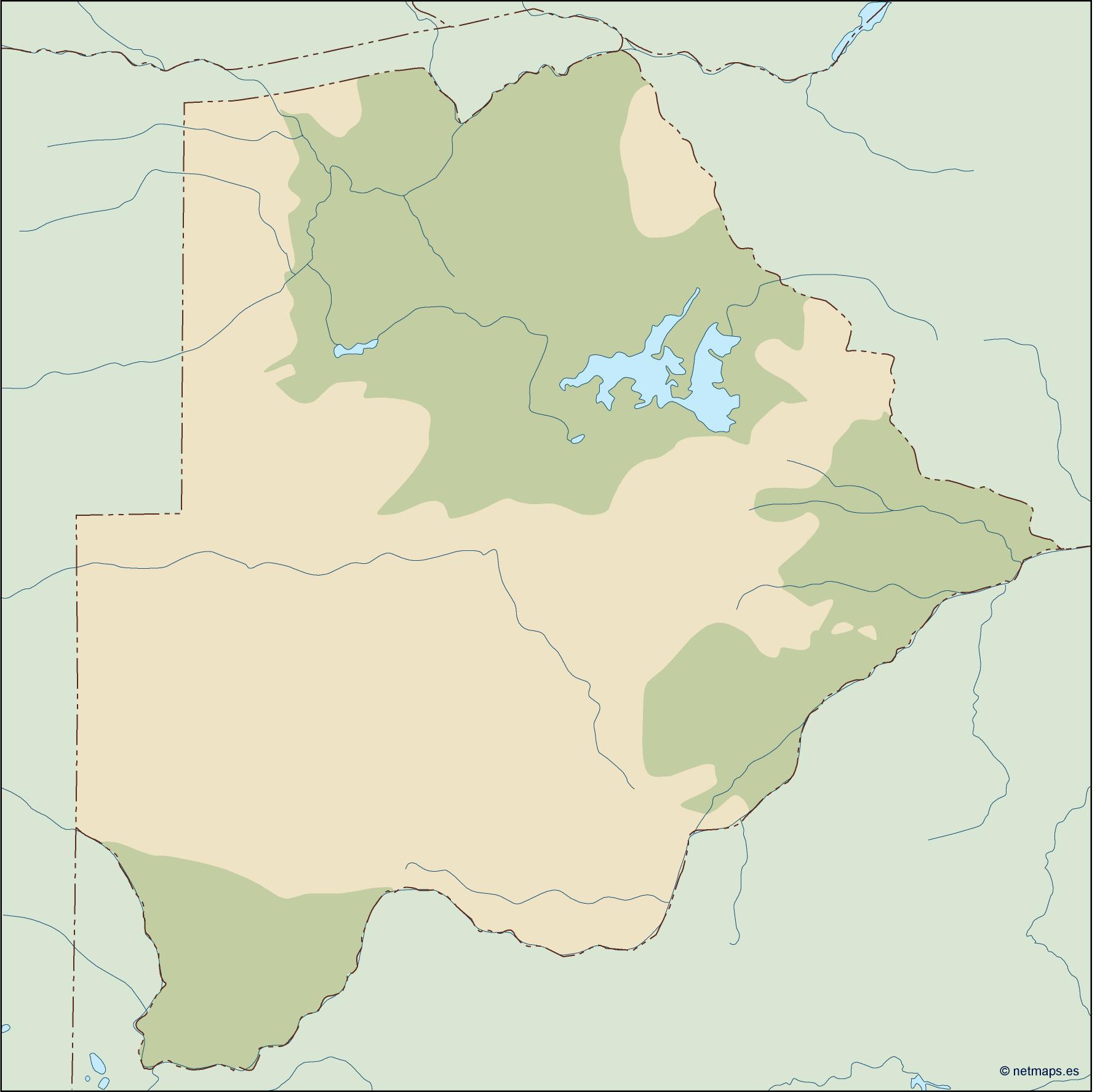 botswana illustrator map
