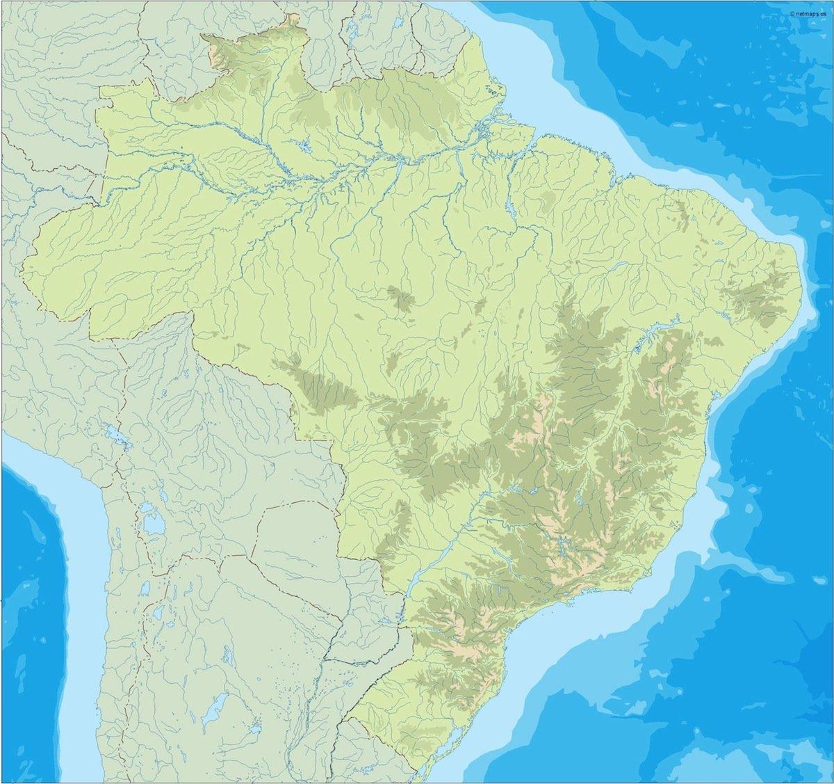 brazil illustrator map