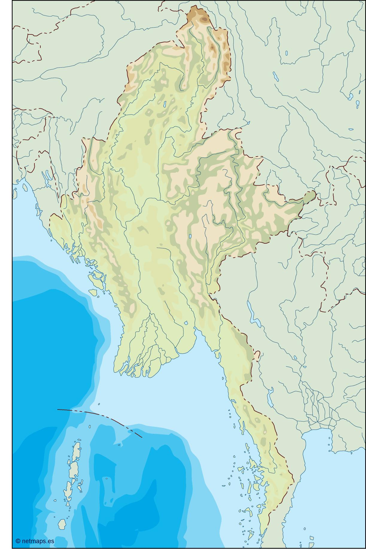 burma illustrator map