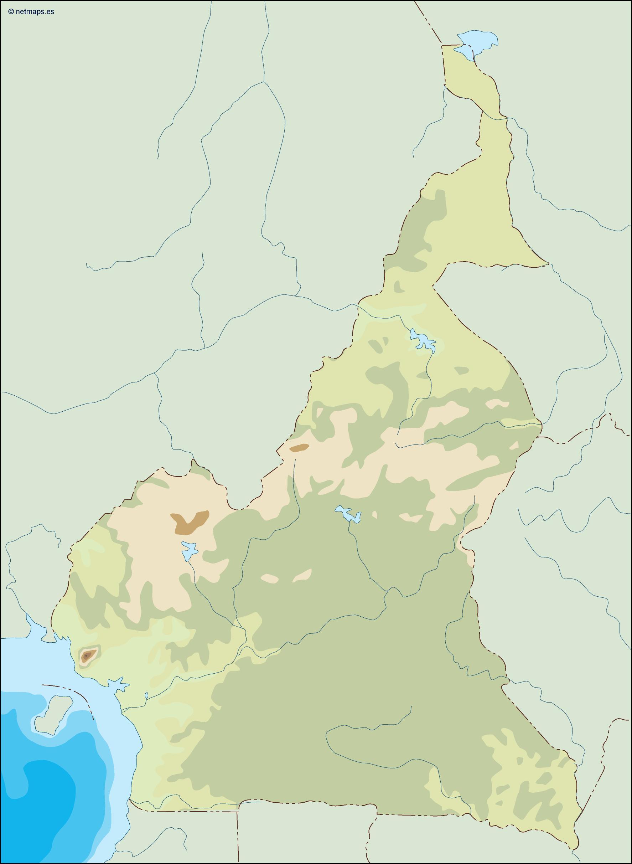 cameroon illustrator map
