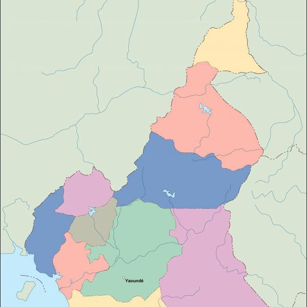 cameroon vector map