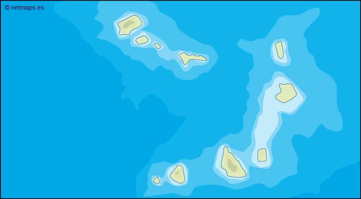 cape verde illustrator map