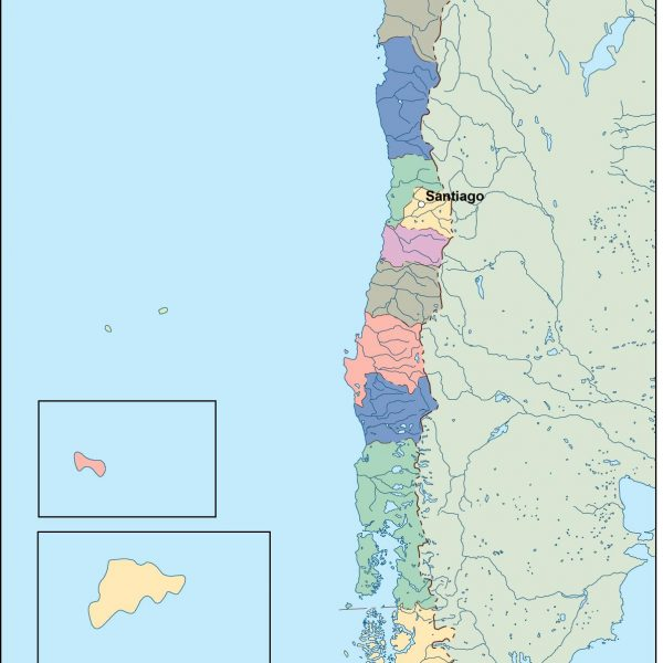 chile vector map