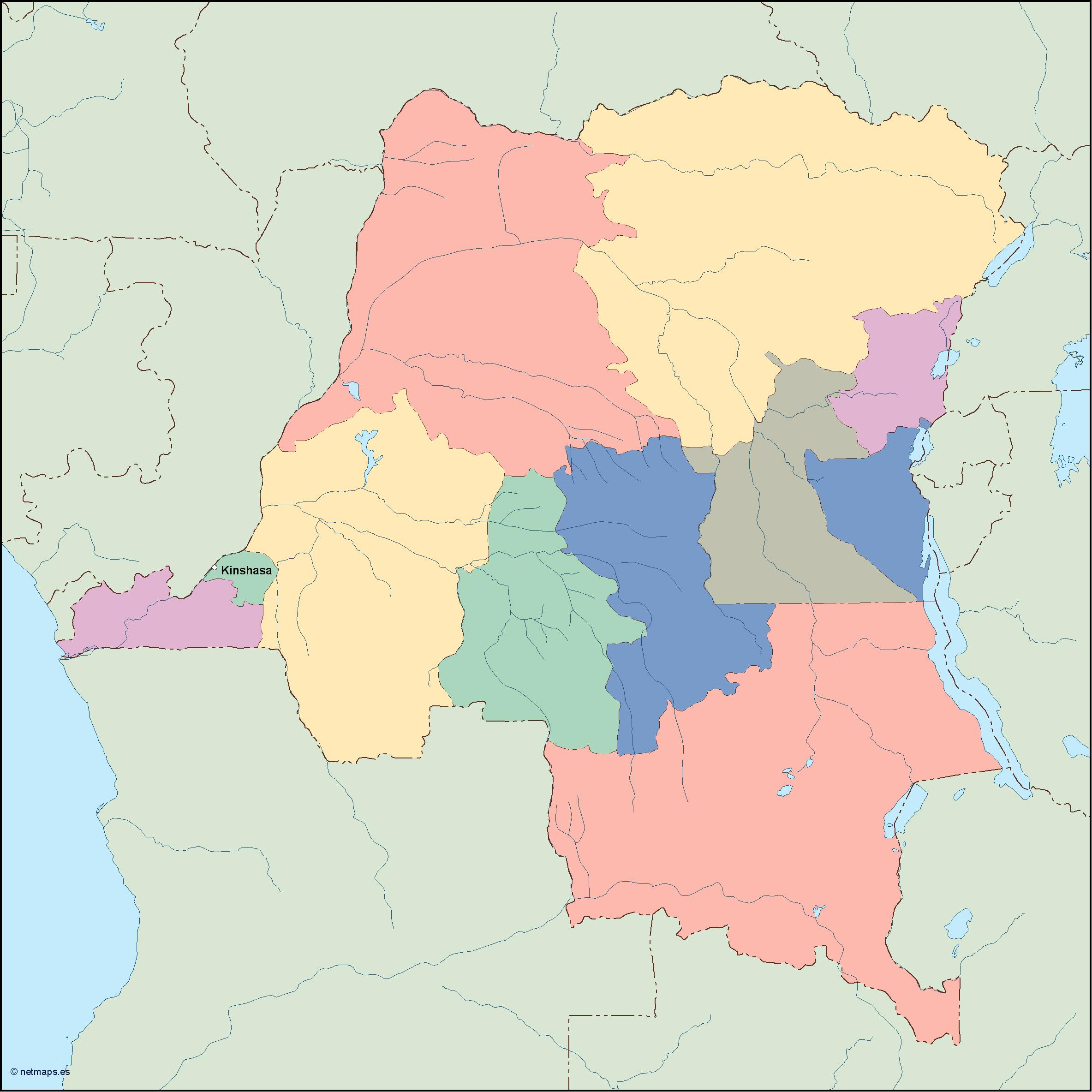 congo democratic rep vector map