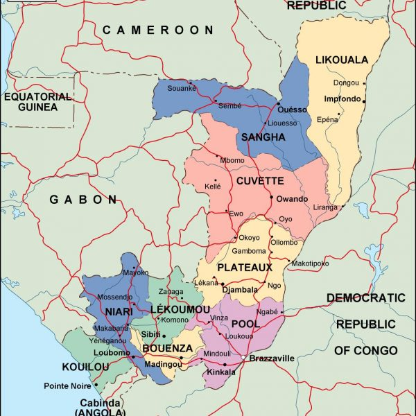 congo political map