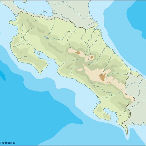 costa rica illustrator map