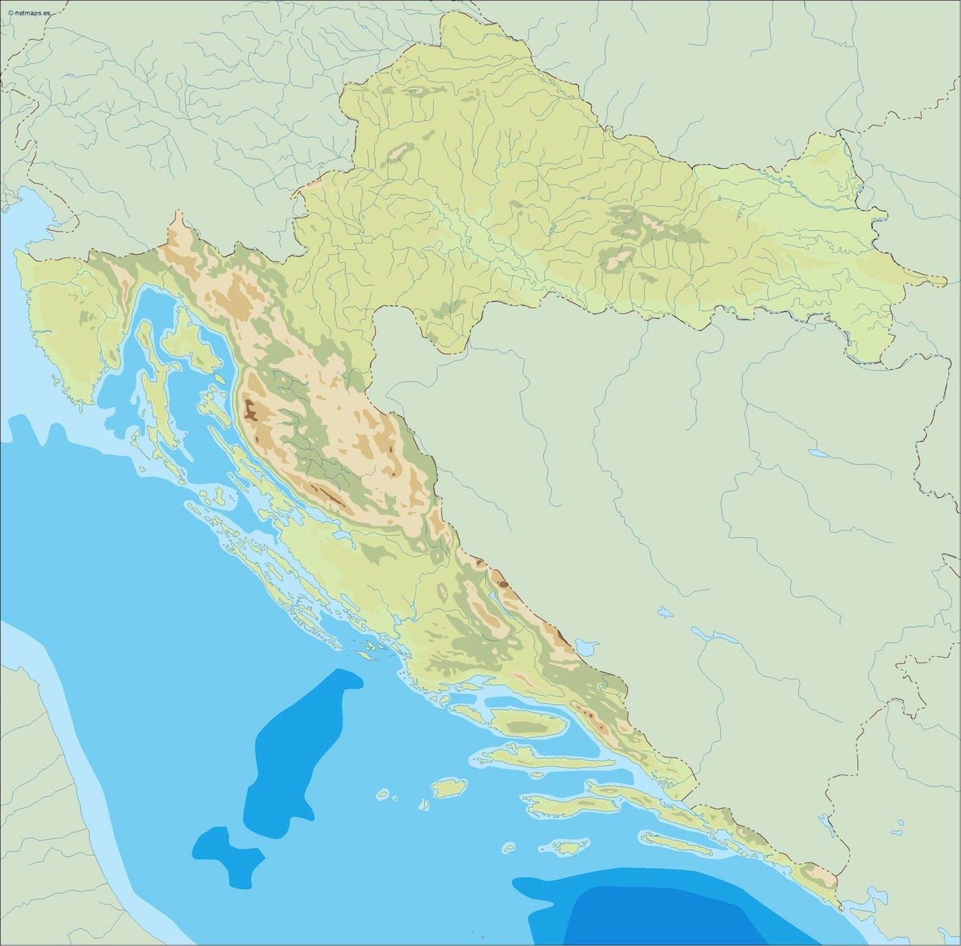 croatia illustrator map