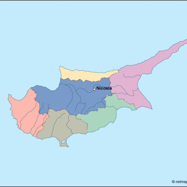 cyprus vector map