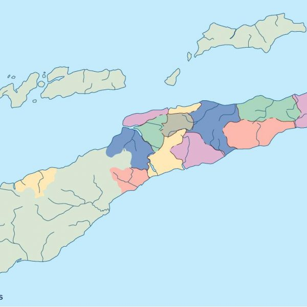 east timor blind map