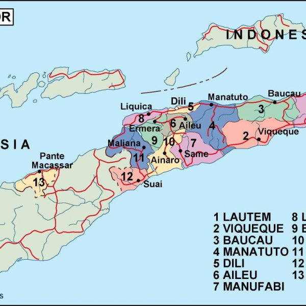 east timor political map