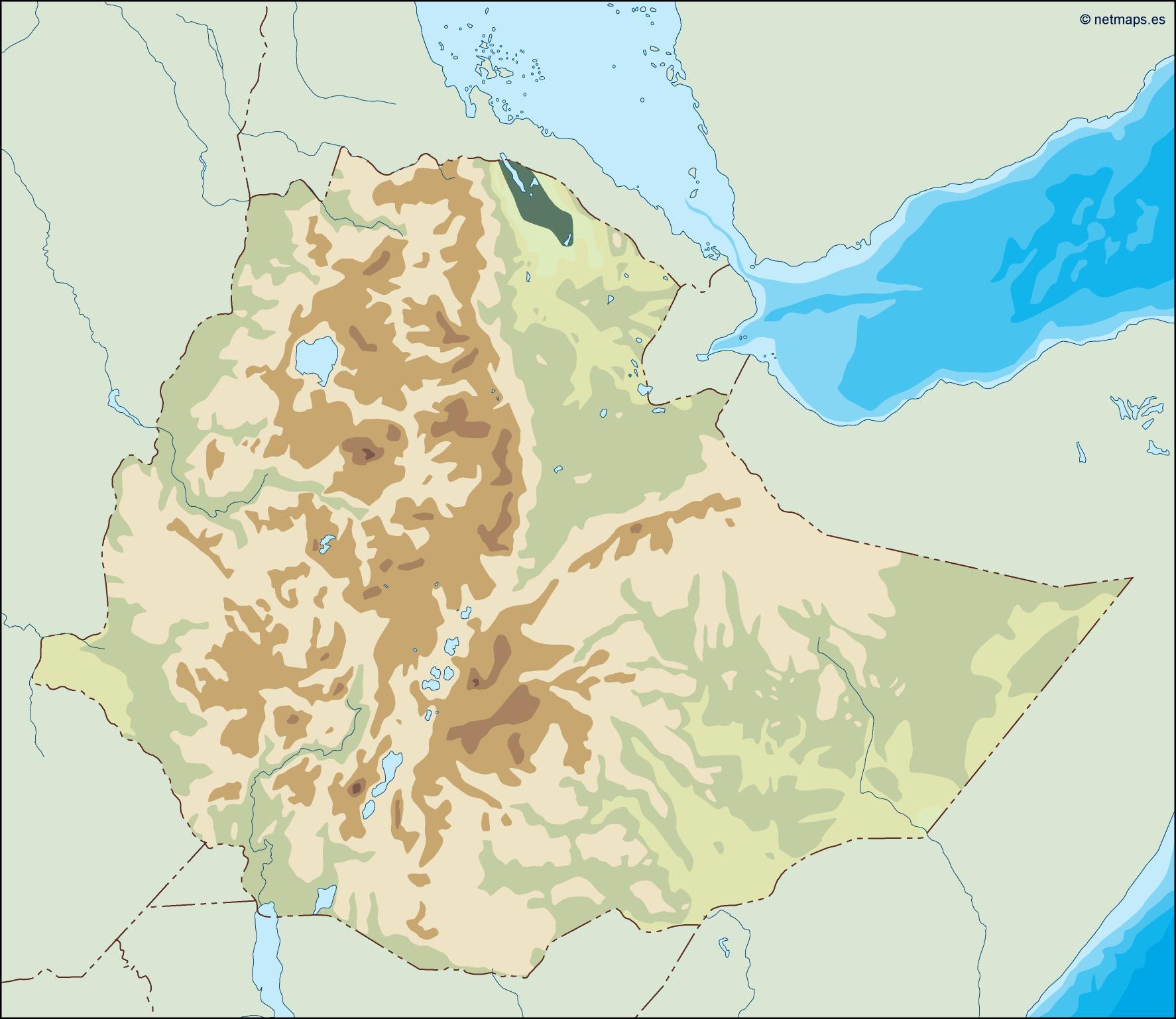 ethiopia illustrator map