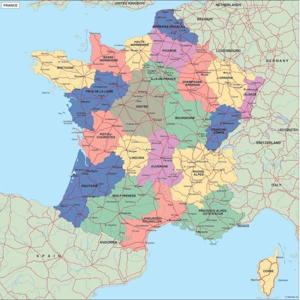 france political map